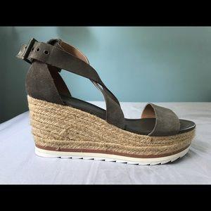 Marc Fisher Olive Espadrille Platform Sandals